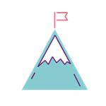 Grow Icon illustrative mountain